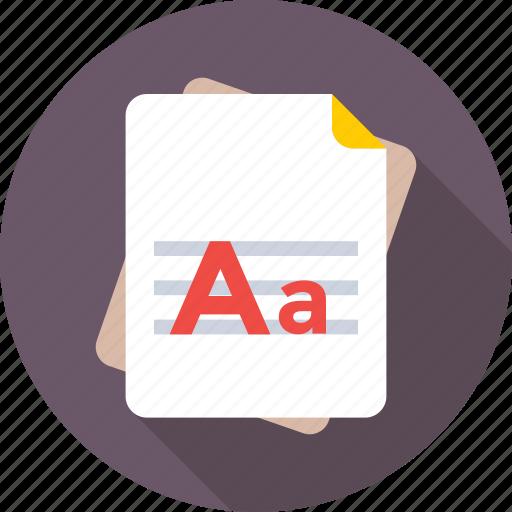 alphabet, article, blog, content, font icon