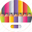 color pencil, crayons, drawing, pencils, stationery icon