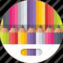 color pencil, crayons, drawing, pencils, stationery icon