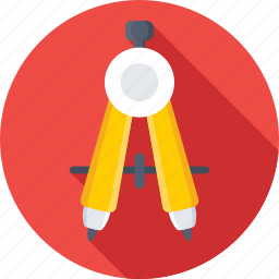 compass, divider, drawing, geometry compass, geometry tool icon