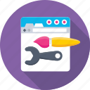 development, ui, web, web designing, website icon