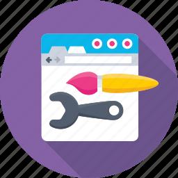 development, ui, web, web designing, website icon