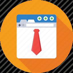 business, freelancing, online work, tie, web icon
