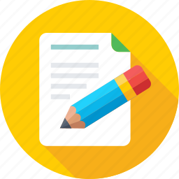 article writing, content writing, paper, pencil, sheet icon