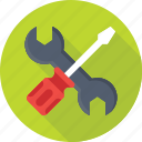 optimization, repair, screwdriver, settings, wrench icon