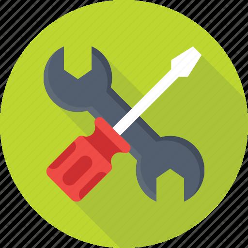 optimization, repair, screwdriver, settings, wrench icon