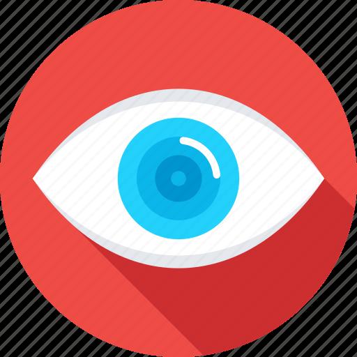 eye, look, monitoring, see, visual icon