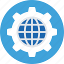 cog, global, globe, internet, world icon