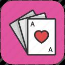 gambling, heart, king, play card, poker icon