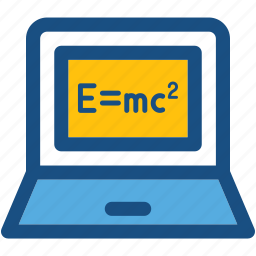 emc2, equivalence, physics, school board, scientific formula icon