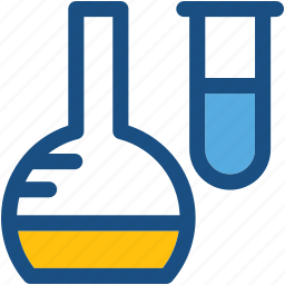 culture tubes, flask, lab accessories, sample tubes, test tubes icon