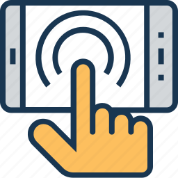 click, finger tap, hand gesture, smartphone, touchscreen icon