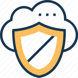cloud computing, cloud protection, cloud security, icloud, shield icon