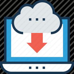 cloud computing, cloud storage, download, icloud icon