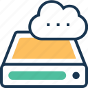 backup, cloud, cloud storage, drive, storage icon