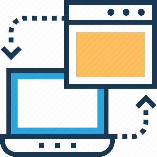 content sharing, data sharing, exchange, file exchange, transfer icon