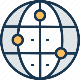 earth, global solution, globe, grid, planet icon