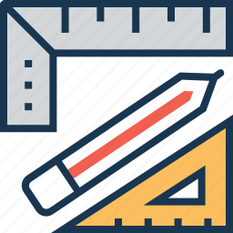draft tool, geometry, pencil, refine, ruler icon