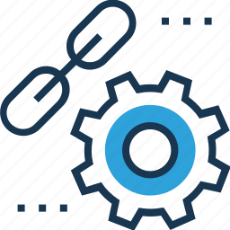 chain link, link, link building, settings, web link icon