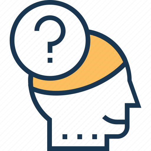 creativity, idea, idea generation, mind, question icon