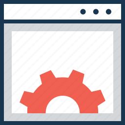 cogwheel, development, settings, web development, web settings icon