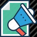 advert, advertisement, announcement, commercial, marketing icon
