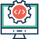 coding, cogwheel, optimization, preferences, programming icon