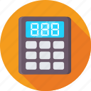 accounting, calculating device, calculator, finance, math icon
