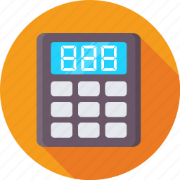 accounting, calculating device, calculator, finance, math icon