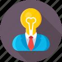 bulb, genius, idea, intelligent, smart icon