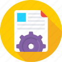 cog, file, file setting, processing, setup file icon