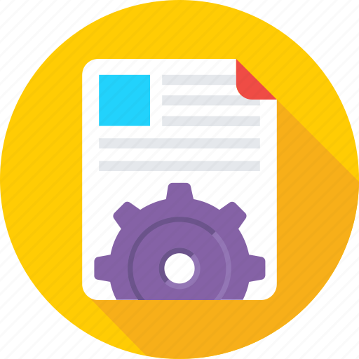 cog, file, file setting, processing, setup file icon