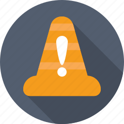 alert, attention, cone, error, warning icon