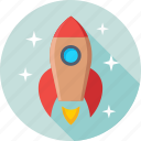 missile, rocket, rocket launch, spacecraft, startup icon