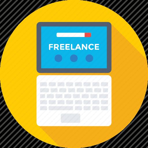 freelance, job, laptop, outsource, work icon