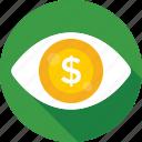 dollar, visual, seo visibility, eye, marketing
