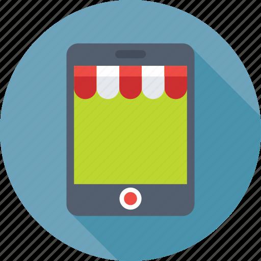 eshop, mobile, mobile shop, shopping, store icon