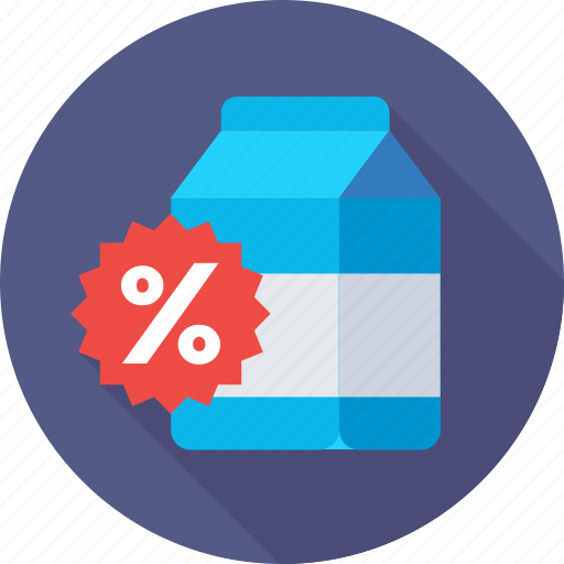 carton, discount, percent, product, promotion icon