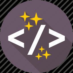 coding, development, div, html, programming icon