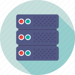 database, hosting, network, server, server connection icon