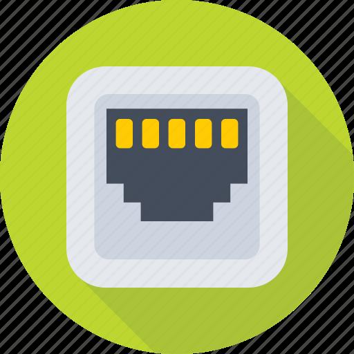 connector, ethernet, internet, internet plug, lan port icon