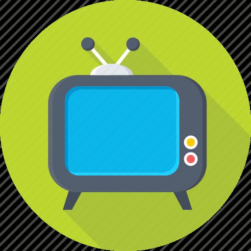 electronics, transmission, tv, tv set, vintage tv icon