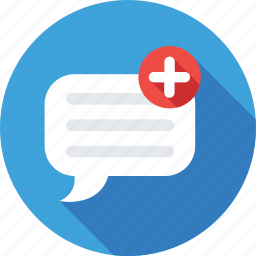 add, chat bubble, chatting, new chat, write message icon