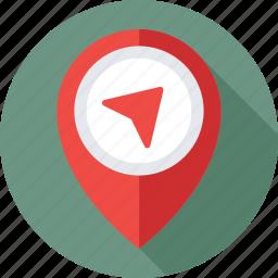gps, location, map, map pin, navigation icon