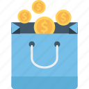 coins bag, currency, currency bag, money bag icon