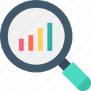 bar chart, bar graph, infographics, search chart icon