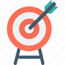 bullseye, bullseye arrow, dartboard, focus icon