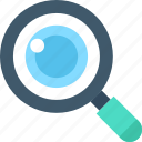 magnifier, magnifying glass, search, search web icon