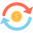 currency, currency exchange, dollar, dollar exchange icon