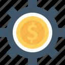 business, cog, dollar, economy icon